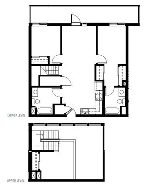 Three Bedroom Floorplan at Abaca, San Francisco