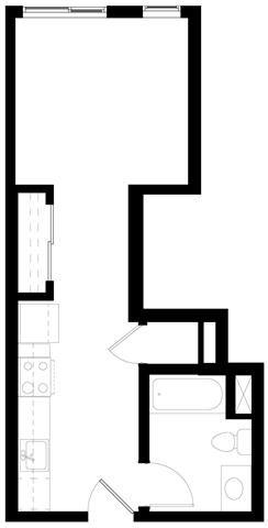 Studio Floorplan at Abaca, San Francisco, CA 94107