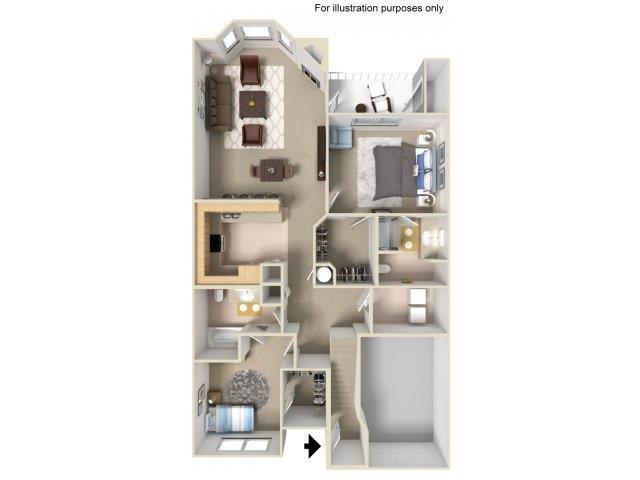 2x2L Floor Plan 3