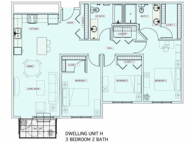 H Floor Plan 23