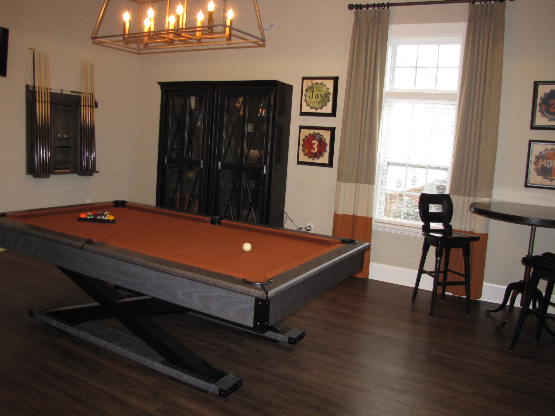 Billiards pool room