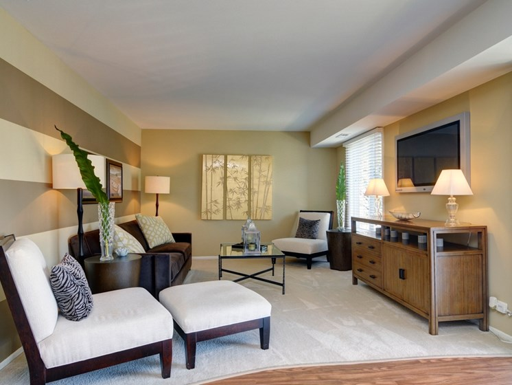 Upgraded Open-Concept Living Room at Briarbrook Apartments, Wheaton, IL