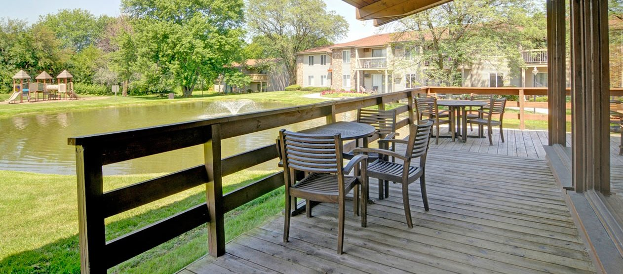 Clubhouse Patio at Briarbrook Apartments, Wheaton, Illinois