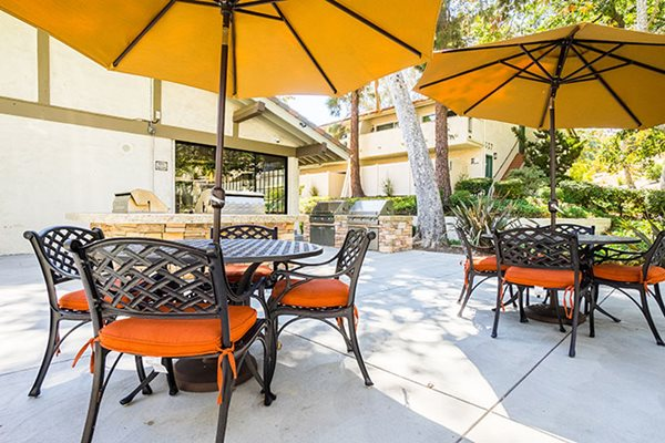 Apartments in Westlake Village BBQ Sitting Area