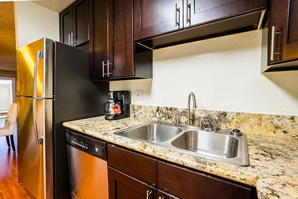 Apartments in Westlake Village Stainless Steel Sink Espresso