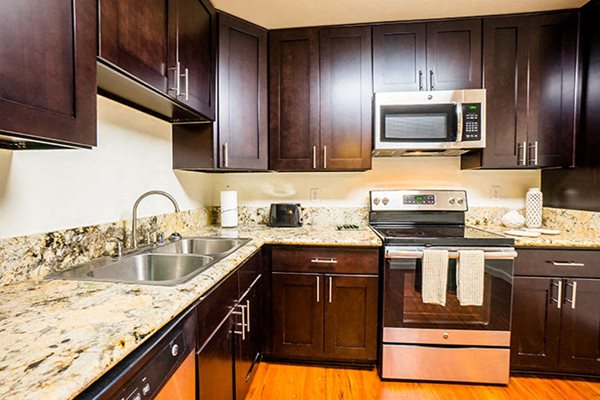 Apartments in Westlake Village Upgraded Granite Countertops Espresso