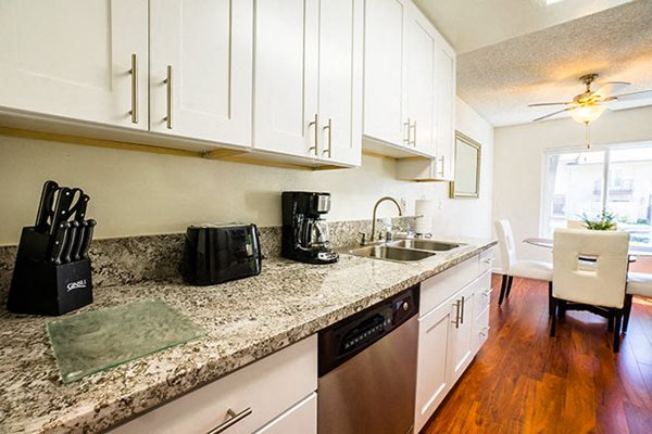 Apartments in Westlake Village Upgraded Granite Countertops White