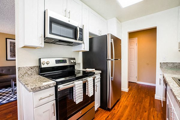 Westlake Village Apartments Stainless Steel Appliances White