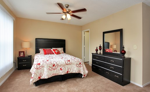 Queen Sized Bedroom set, furnished master bedroom
