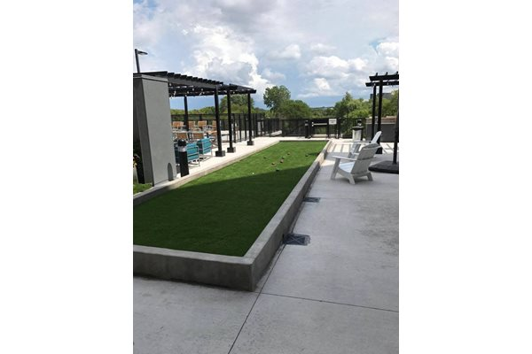Outdoor Ping Pong Table and Bocce Ball Court at The Axis, Plymouth, 55441