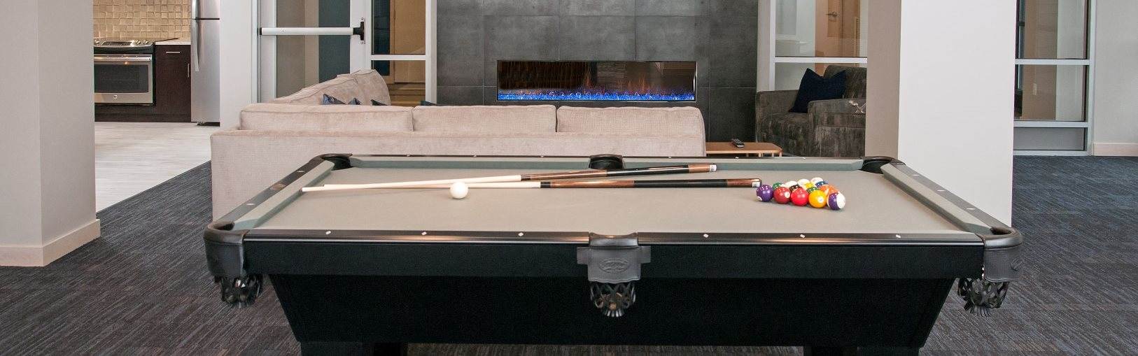 Club Room with Pool Table at The Axis, Minnesota