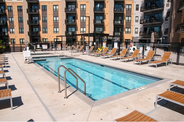 Outdoor Pool and Hot Tub at The Axis, Plymouth, 55441