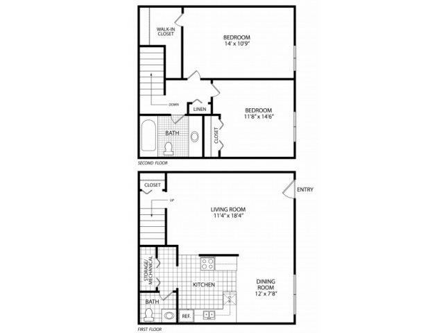 Two Bed Townhome