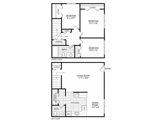 Three Bed Townhome