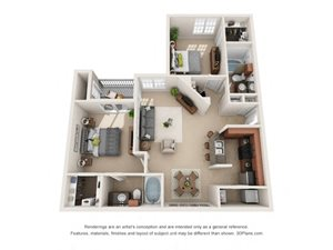 Albany Floor Plan at Tiburon, Houston, TX, 77064