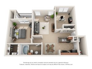 Marin Floor Plan at Tiburon, Houston, 77064