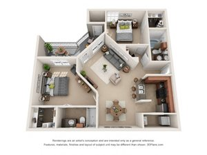 Piedmont Floor Plan at Tiburon, Texas, 77064