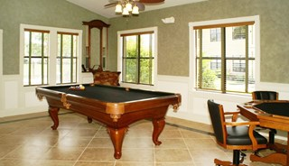 Clubhouse with billiard table at Belvedere at Quail Run, Naples, FL,34105