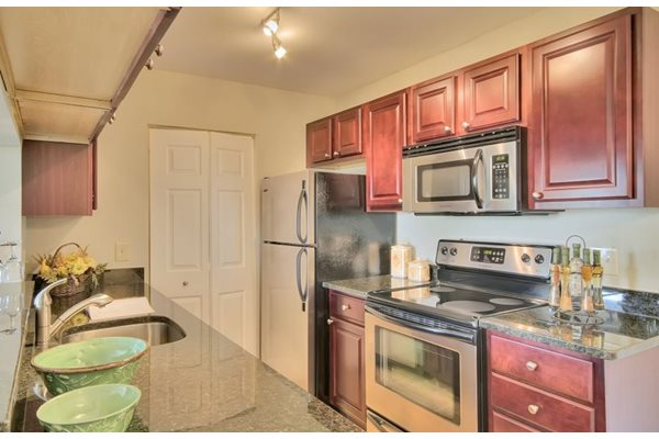 Kitchen in One and two bedroom apartments at Belvedere at Quail Run, Naples, FL,34105