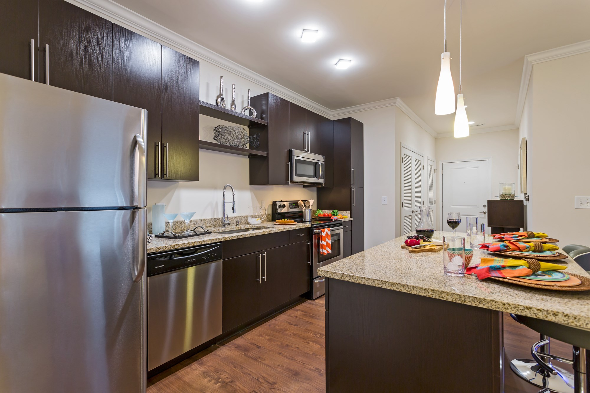 Large Kitchen at Vanguard Northlake Apartments in Charlotte, NC