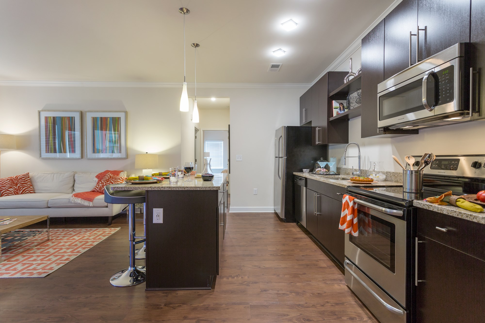 Open Kitchen at Vanguard Northlake Apartments in Charlotte, NC