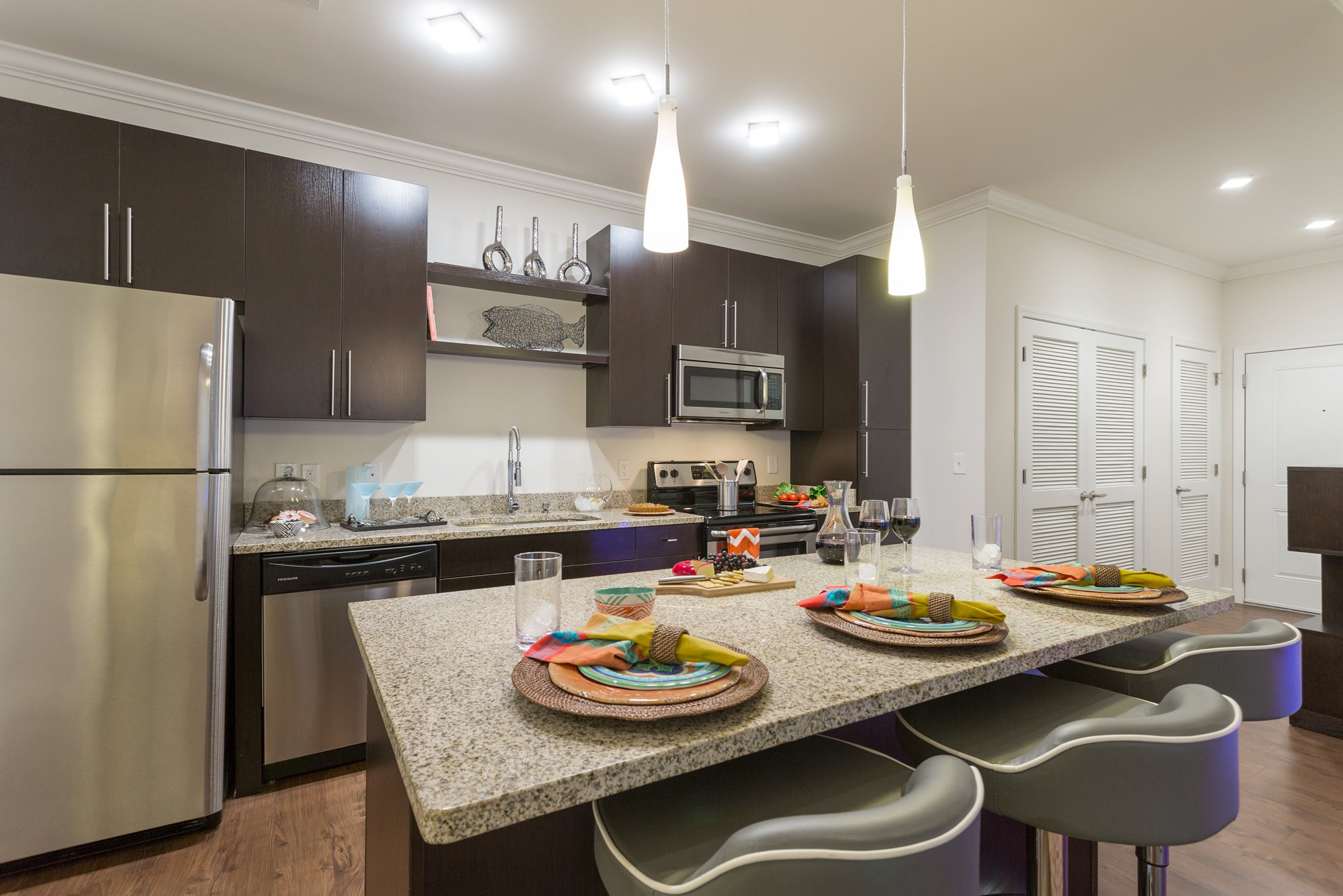 Large, Open Kitchen at Vanguard Northlake Apartments in Charlotte, NC