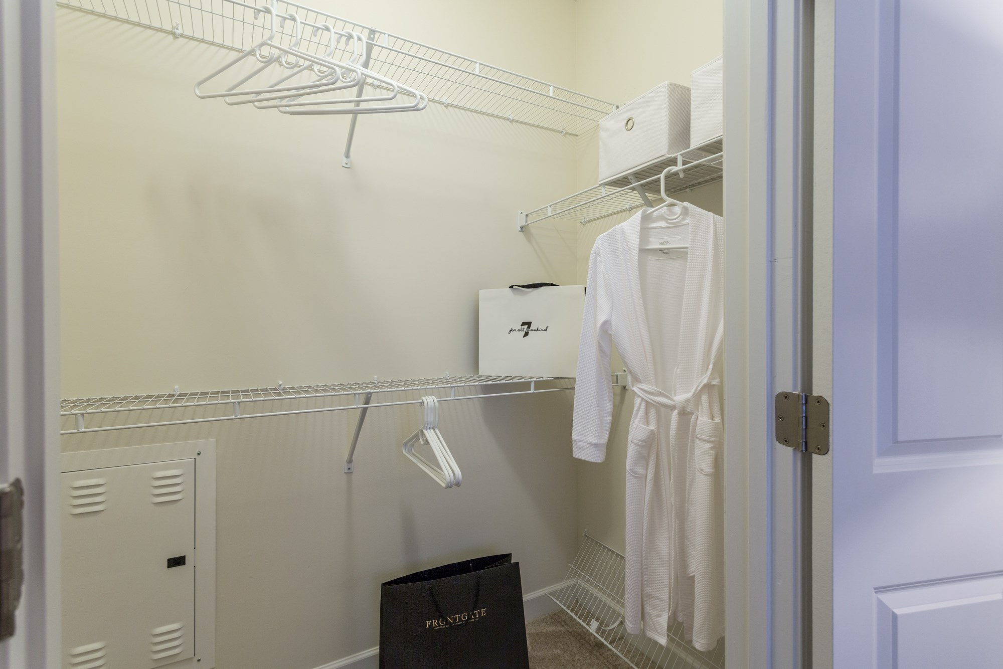 Closet at Vanguard Northlake Apartments in Charlotte, NC