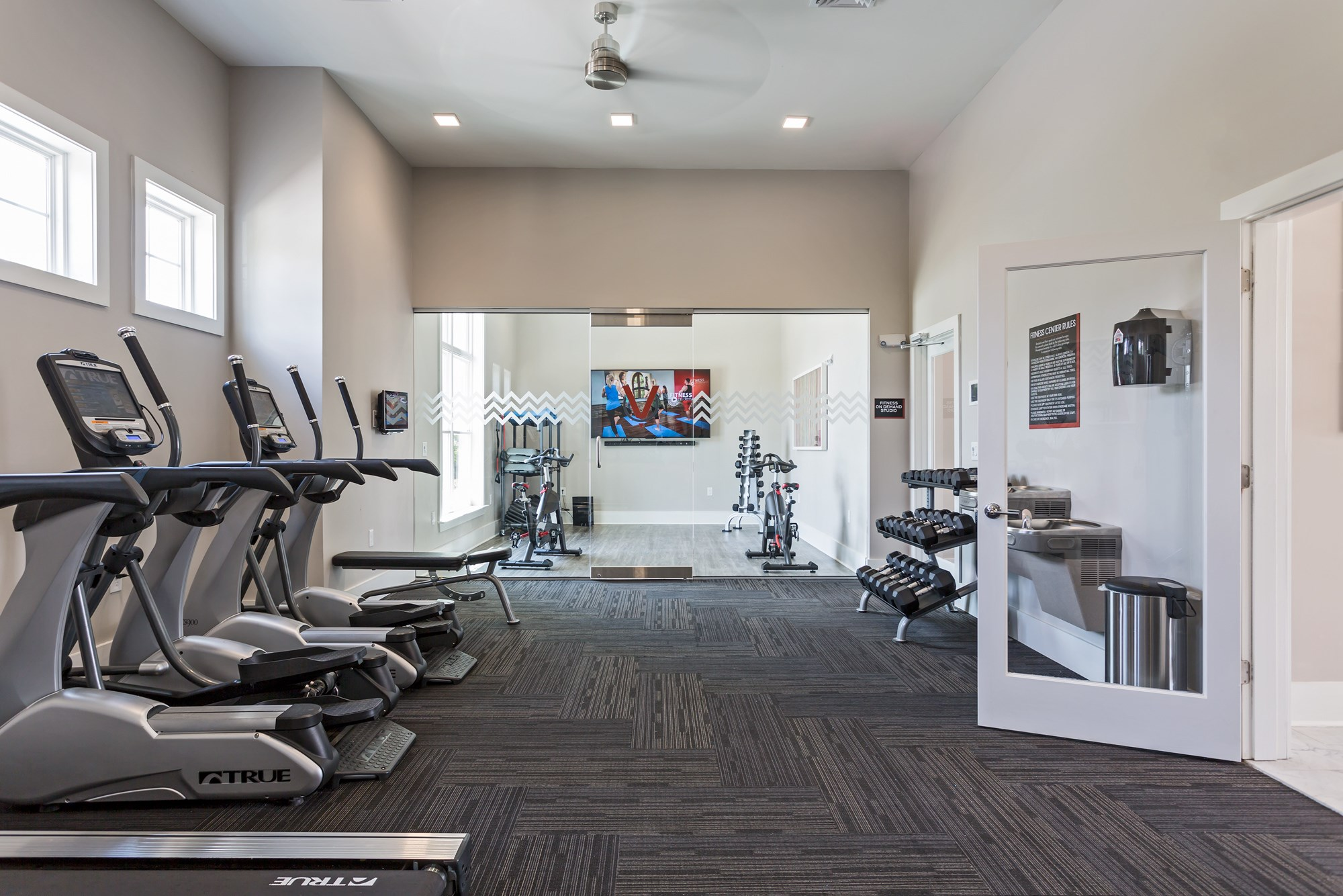 Fitness Center at Vanguard Northlake Apartments in Charlotte, NC