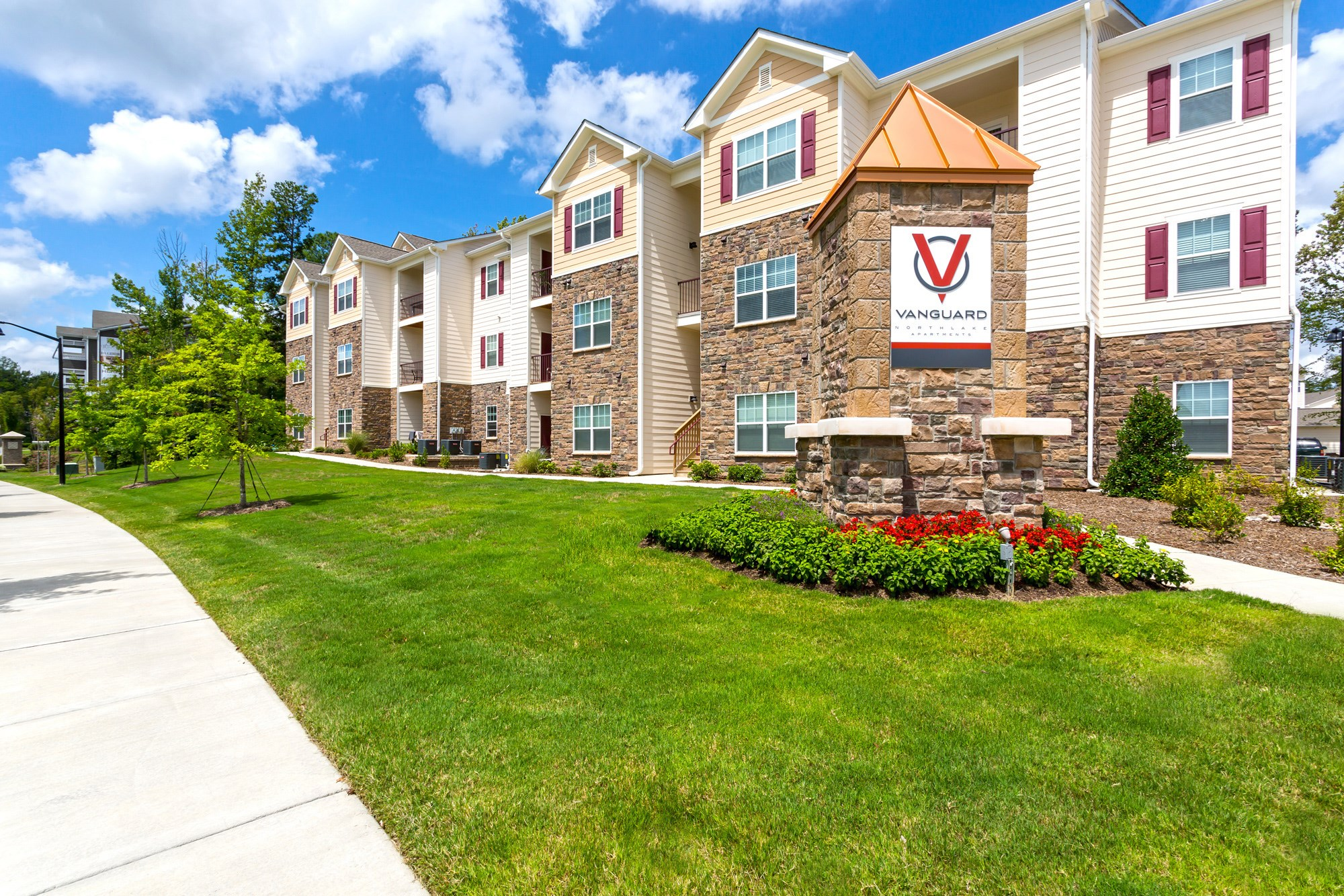 Exterior at Vanguard Northlake Apartments in Charlotte, NC