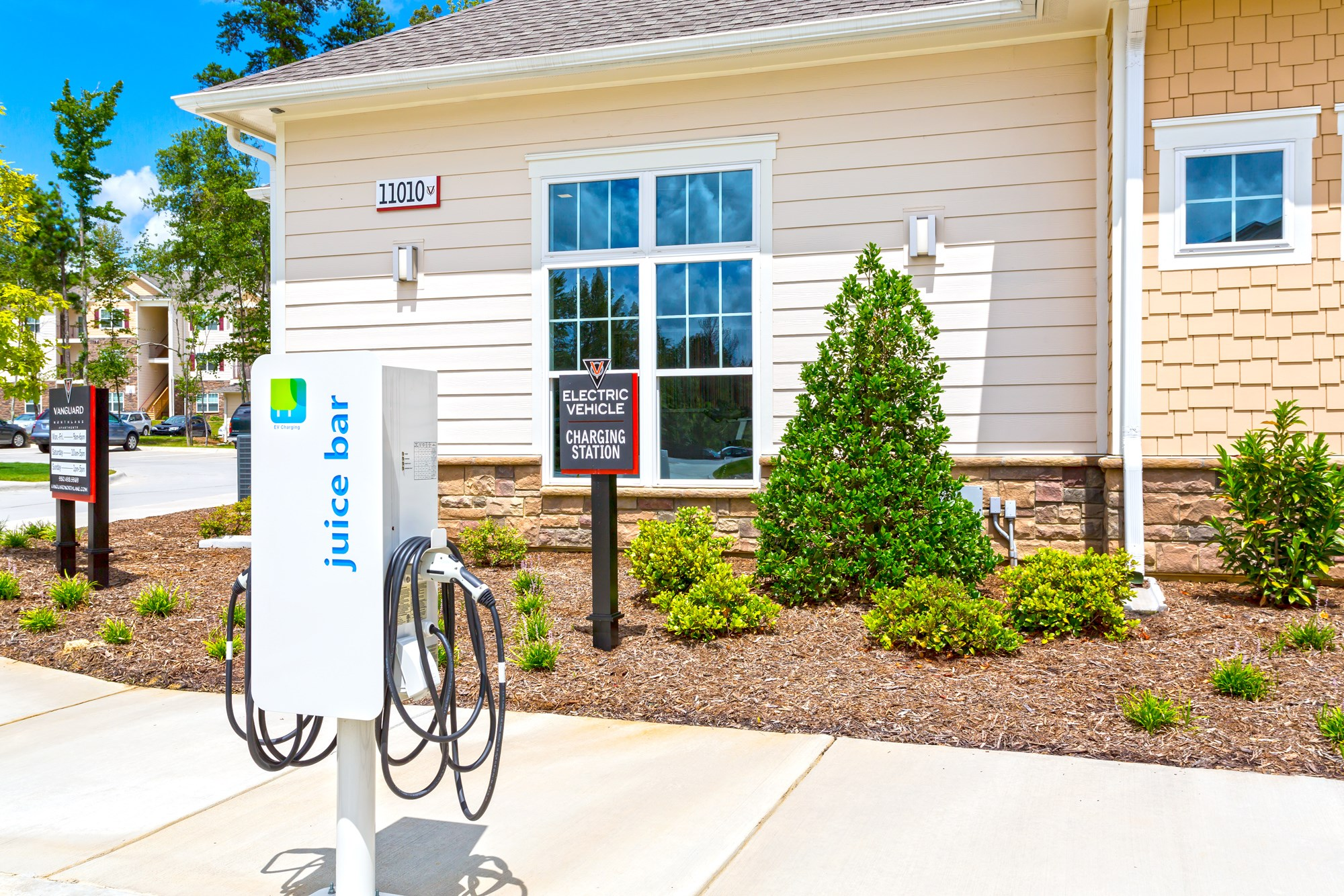 Electric Car Charging Station at Vanguard Northlake Apartments in Charlotte, NC