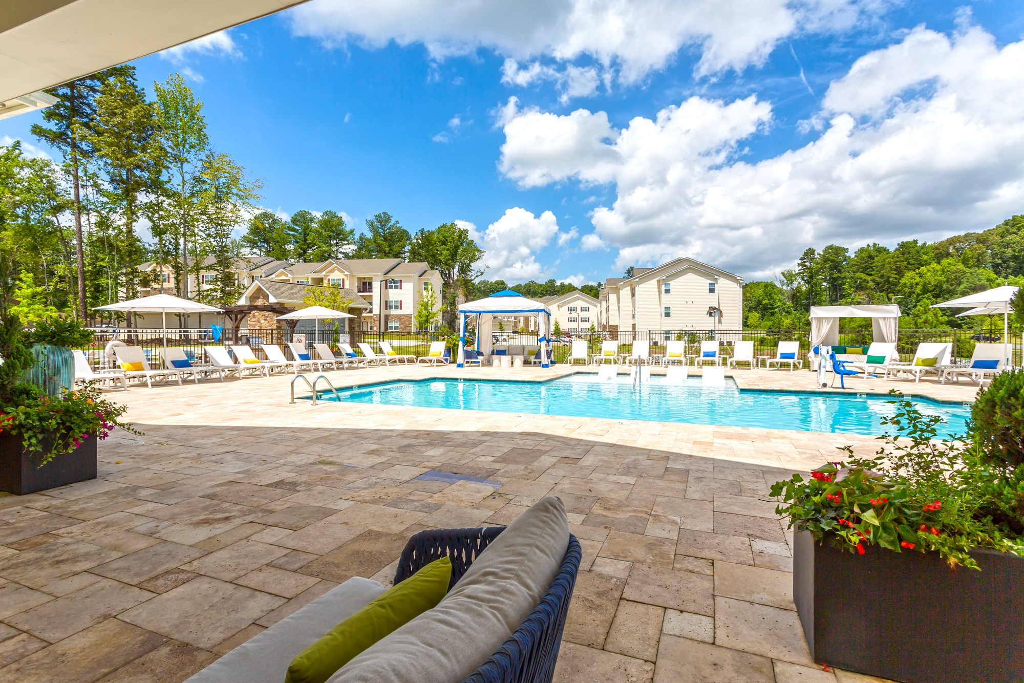 Swimming Pool at Vanguard Northlake Apartments in Charlotte, NC