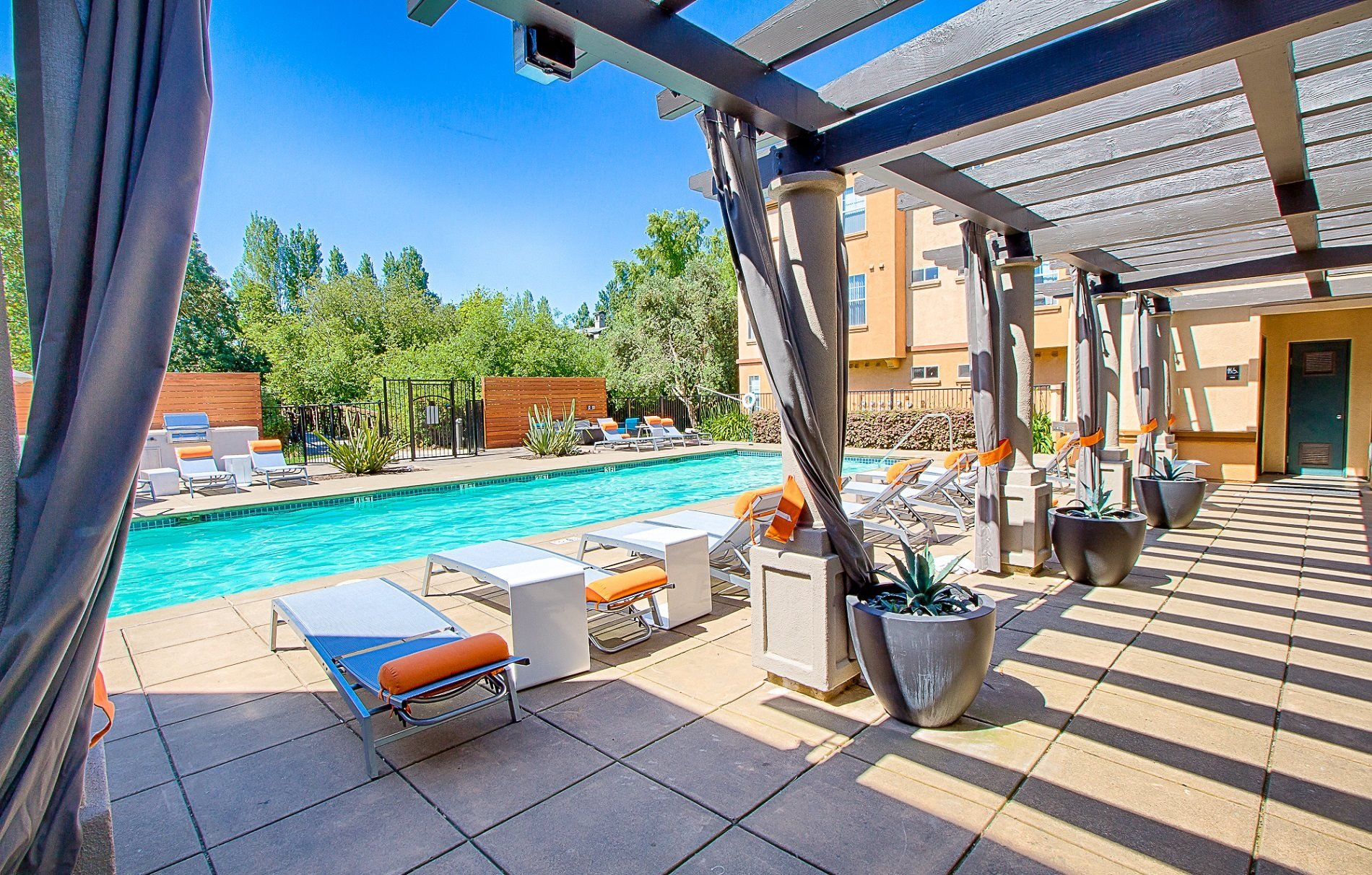 Swimming Pool Relaxing Area at Renaissance Apartment Homes, Santa Rosa, CA,95404