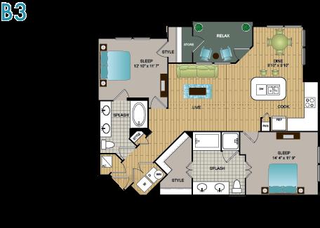 B3 Floor Plan 12