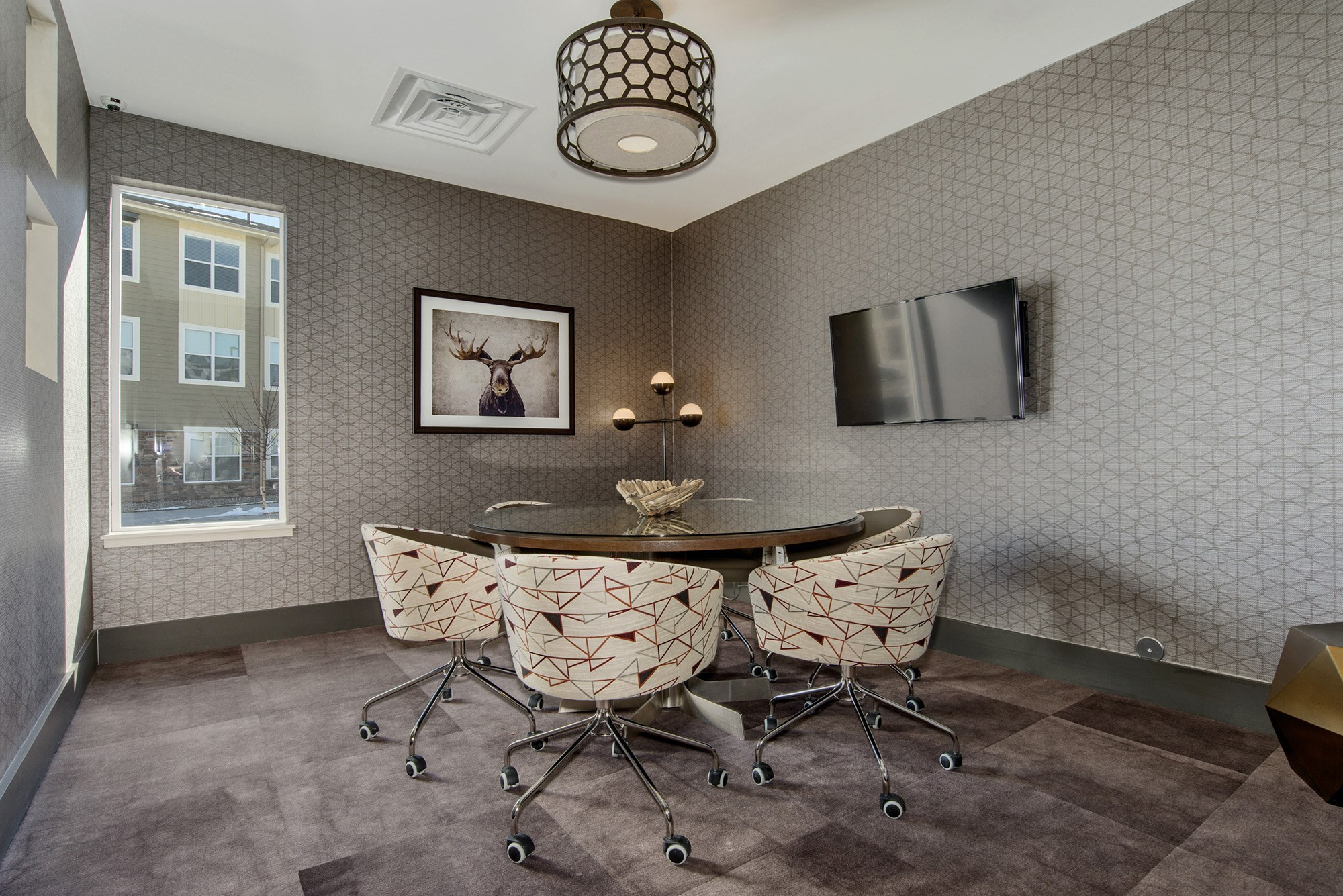 Conference Room at Westlink at Oak Station Apartments in Lakewood, CO