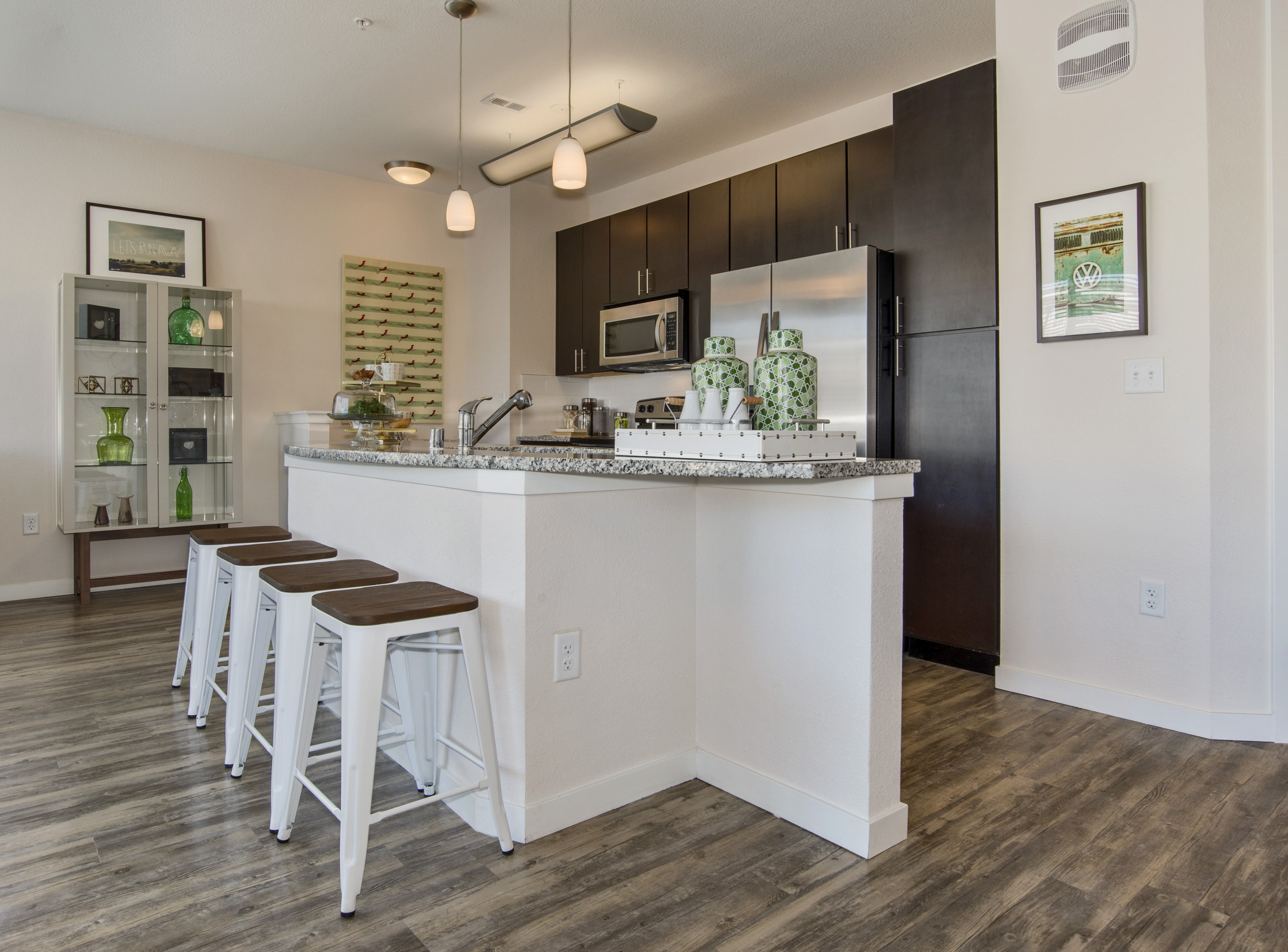 Kitchen at Westlink at Oak Station Apartments in Lakewood, CO