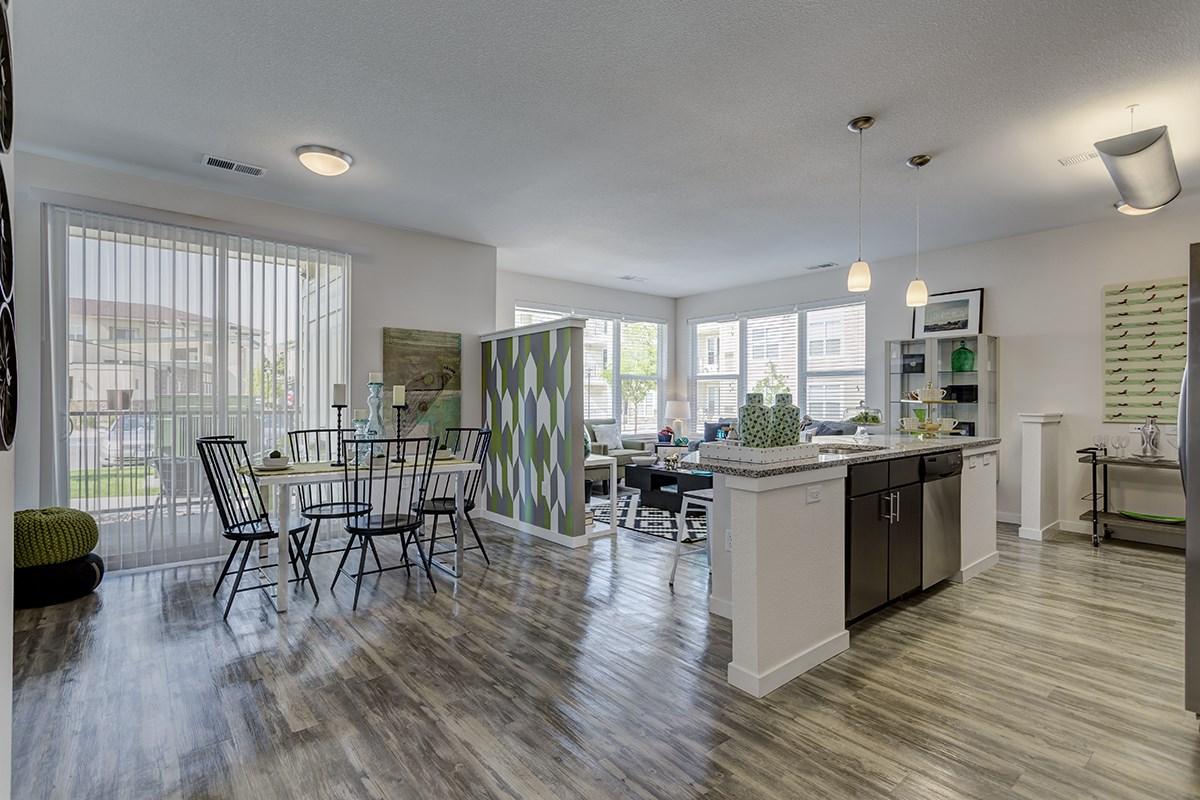 Large Living Spaces at Westlink at Oak Station Apartments in Lakewood, CO