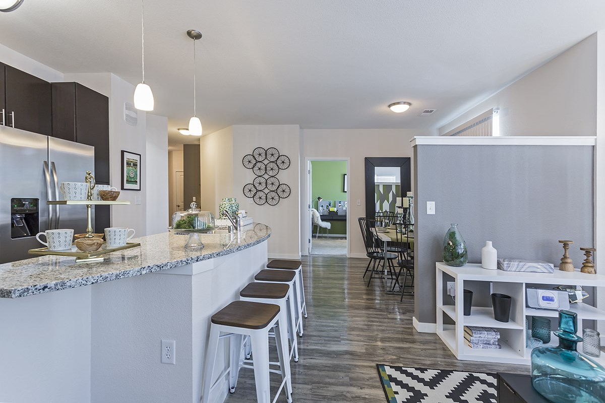 Open Living Spaces at Westlink at Oak Station Apartments in Lakewood, CO