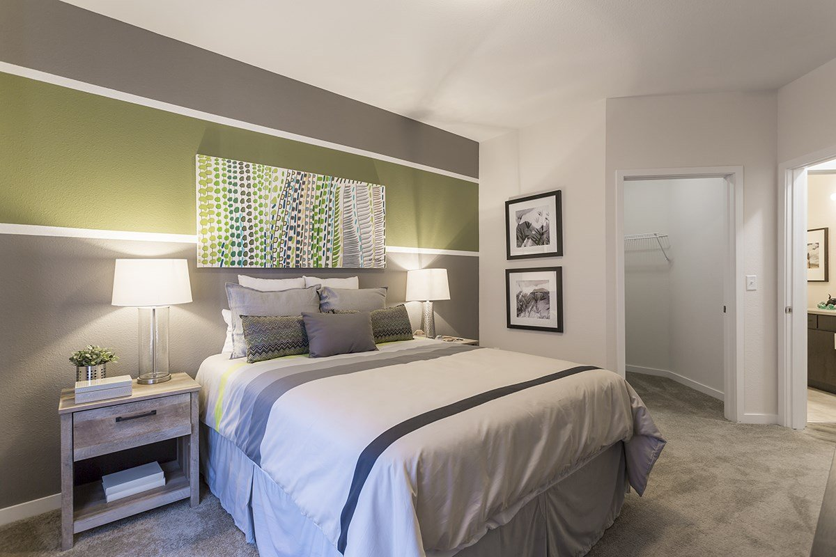 Bedroom at Westlink at Oak Station Apartments in Lakewood, CO