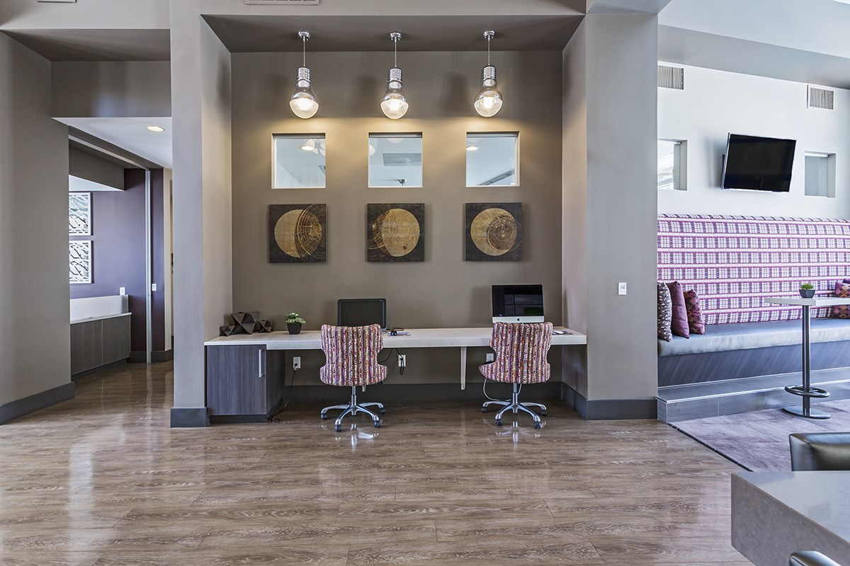 Business Center at Westlink at Oak Station Apartments in Lakewood, CO