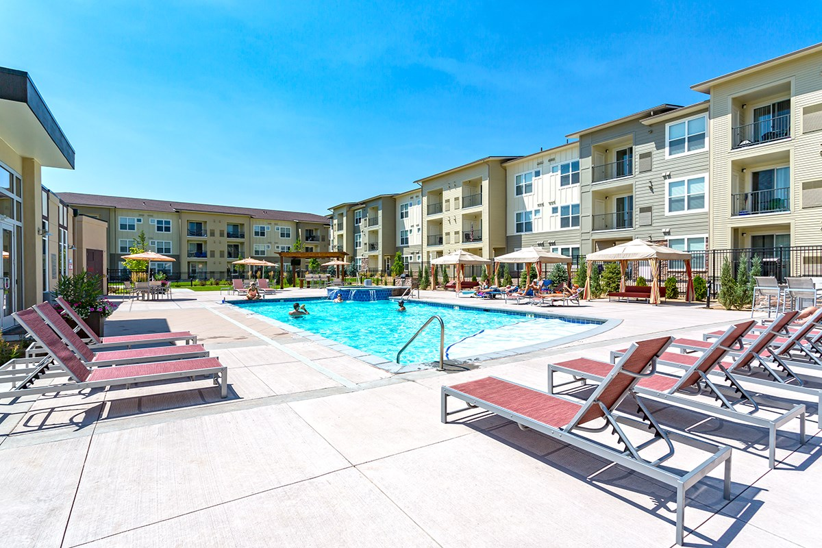 Swimming Pool at Westlink at Oak Station Apartments in Lakewood, CO