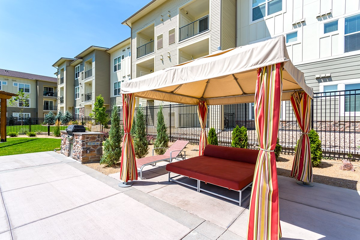Poolside Cabana at Westlink at Oak Station Apartments in Lakewood, CO