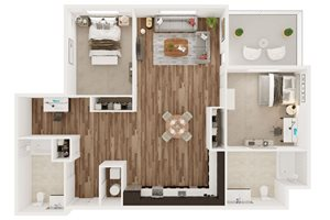 2 Bedroom 2 Bath - I