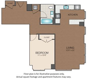 one bedroom luxury The Victor Apartments boston Mass