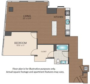large one bedroom The Victor Apartments north station