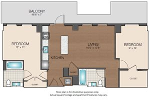 2bd 2ba w/ large balcony The Victor Apartments 02114