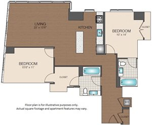 2bd 2ba The Victor Apartments West End Boston