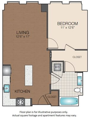 one bedroom large closet The Victor Apartments north station 02114