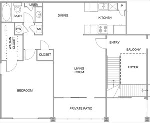 Hampton house apartments 601 northpointe parkway jackson for Floor plans jackson ms