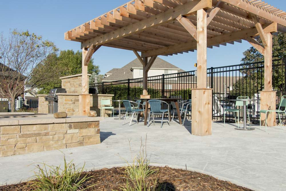 Outdoor lounge at Fountain Glen Apartments