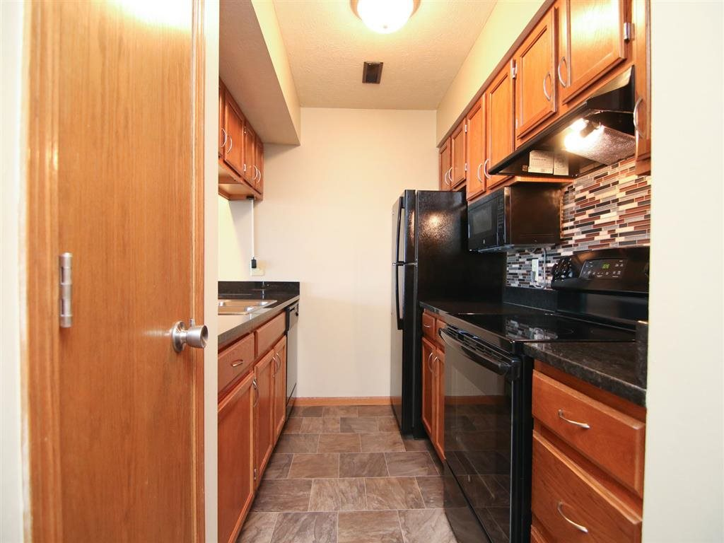 kitchen space at Fountain Glen Apartments in Lincoln Nebraska